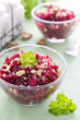 Salad from beetroot and walnuts
