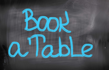 Book A Table Concept