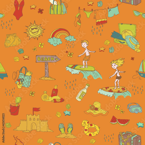 Seamless Summer Holiday Background