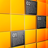 Abstract cubes infographic design elements