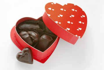 Dark Chocolates in Heart Box