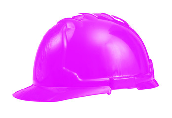 hardhat pink colored isolated on white