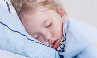 toddler girl is sleeping