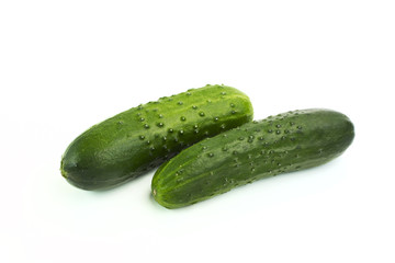 green fresh cucumbers