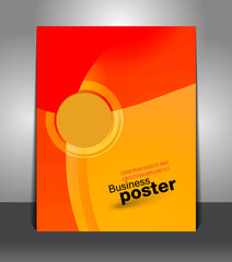 Brochure business design template or banner
