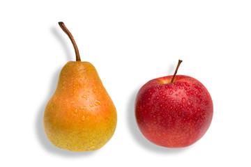 Vergleich von Apfel und Birne