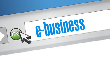 ebusiness search bar on a browser. illustration