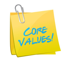 core values post message illustration design