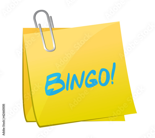 bingo post message illustration design