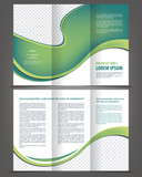 Vector empty trifold brochure print template design poster