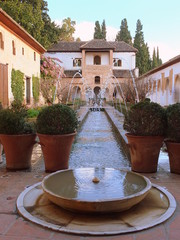 Water Fountains In A Formal Garden