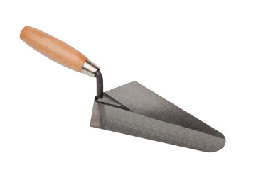 Tool construction trowel isolated on white background
