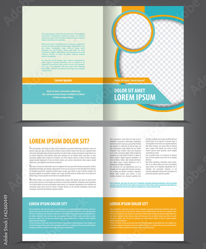 Vector empty bifold brochure print template design