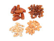 Raisins, nuts, dates and almonds