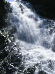 Waterfall in sun light