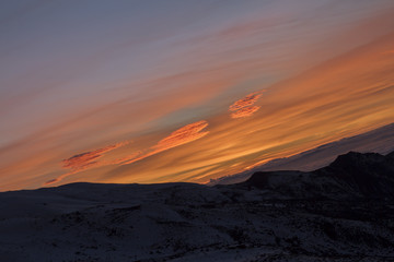 Sunset in Sierra Nevada, Granada, Spain