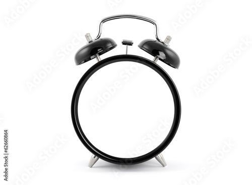 Blank old style alarm clock with clipping path