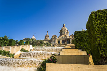 View of the Montjuïc palace in Barcelona