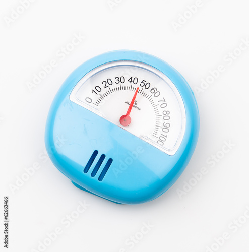 Hygrometer isolated white background