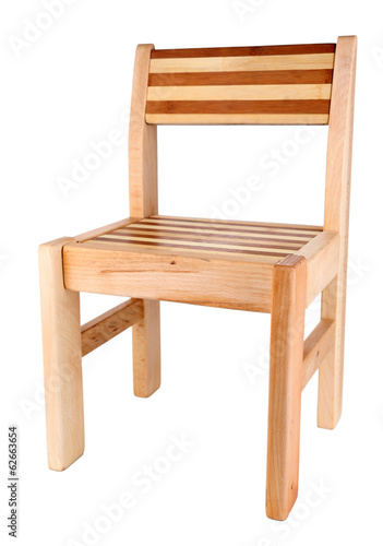 Wooden chair, isolated on white