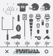 Vector Set: Football Equipment Icons and Symbols - 62665802