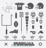 Fototapety Vector Set: Football Equipment Icons and Symbols