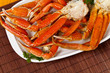 Snow Crab legs with fresh lemon slices - 62666438
