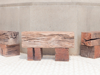 railroad ties bench