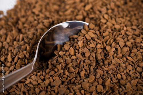 instant coffee and teaspoon