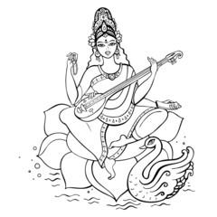Hindu Goddess Saraswati.