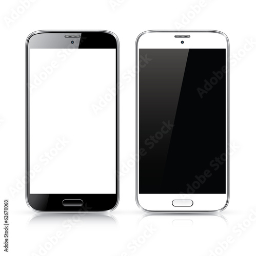 Perfectly detailed vector of modern new smartphone