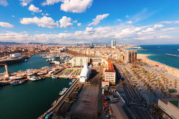Port Vell and Barceloneta. Barcelona