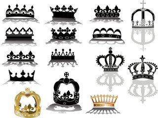 black and gold fifteen crowns collection