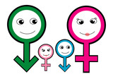 Family, Male and Female symbol