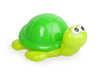 children's toy green turtle