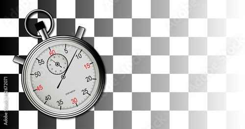 Chequered Flag and Stop Watch