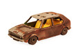 broken brown children's toy car model - 62672263