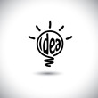abstract idea bulb glowing - concept vector icon