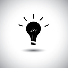 creative idea light bulb on white background - concept vector ic