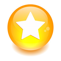 Bouton Web Favori star icon orange