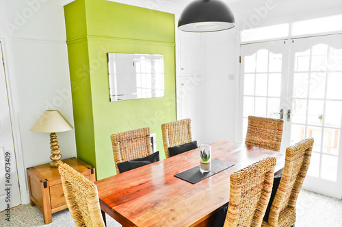 Bright dining room interior
