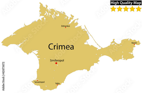 Crimean Peninsula – High Detailed Map