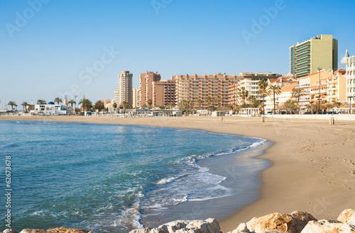Fuengirola Beach, tourist city on the coast of the Mediterranean - 62673678