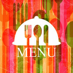 Vector Illustration of an Abstract Cutlery Background