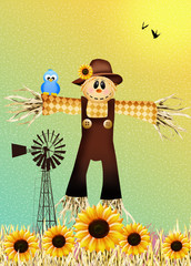 Scarecrow in autumn