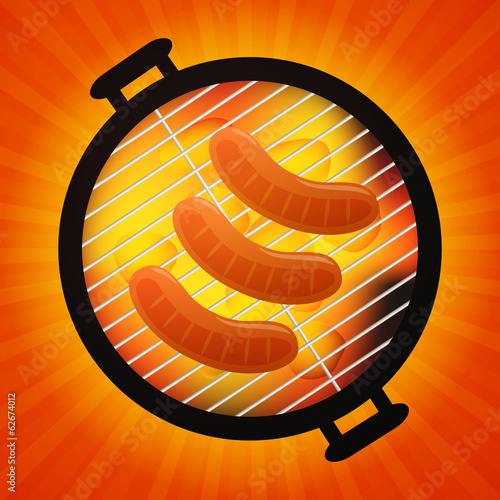 Vector Illustration of a Barbecue Background