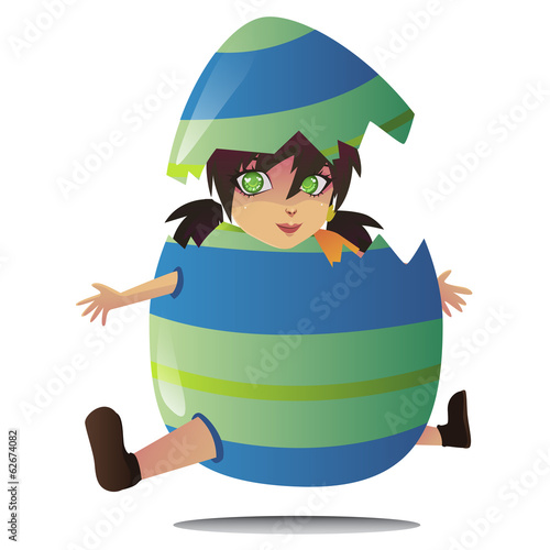 jumping egg vector