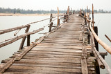 Fototapety Rickety wooden bridge