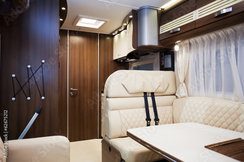 Interior of Luxury Motorhome