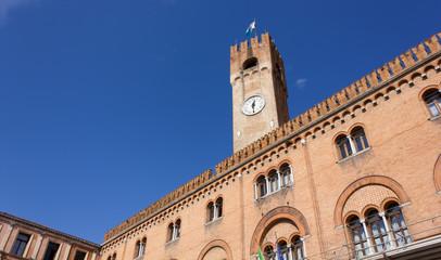 Palazzo della Prefettura and Civic Tower in Treviso, Italy